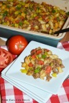 bacon, cheeseburger, casserole, fall, recipe